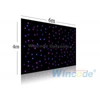 Twinkle Effects LED Star Curtain 4m X 6m , Led Light Curtain Wall RGB / Single Color