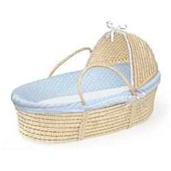 China Furry Dot Hooded Moses Basket on sale