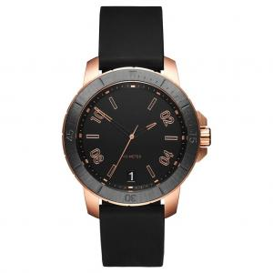 China Japanese Movement Mens Watch Rubber Strap With Date , Water Resistant on sale
