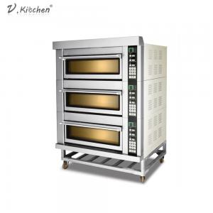 China 3 Decks 6 Trays Stainless Steel Bread Machine Electric Oven on sale