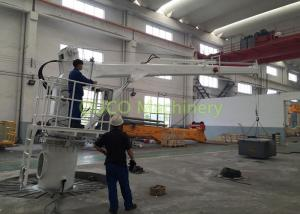 China Small Knuckle Boom Crane IP 44 , 2T 10M Marine Deck Small Crane For Boat on sale