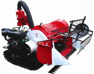 China 2015 new arrival 4LZ-0.8 Tracked Mini Paddy Wheat Combine Harvester on sale