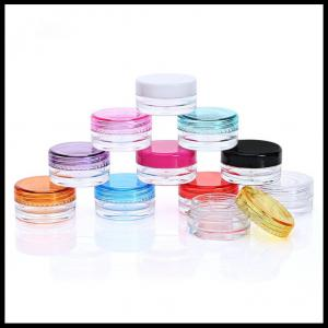 China 3g 5g Volume Clear Plastic Jars Cosmetic Containers Eye Shadow Powder Cans on sale
