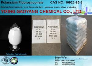 China Sels inorganiques acides CAS de fluorozirconate de potassium 16923-95-8 alliages K2ZrF6 principaux en aluminium on sale