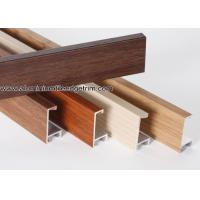 Wood Grain Effect Aluminium Picture Frame Mouldings For Art Show