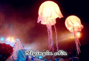 China White Inflatable Jellyfish with Led Light for Concert and Stage Decoration on sale