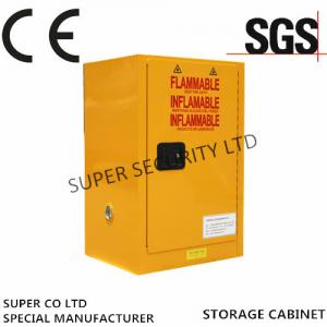 China Self-Locking Flammable Liquid Chemical Storage Cabinet , 15 Gallon Thickness1.2mm on sale