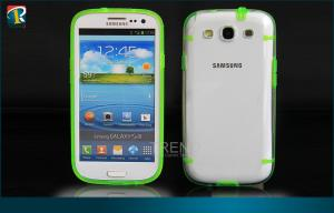 China Durable PC  TPU Samsung Galaxy Protective Cases for Samsung Galaxy S3 I9300 with Dust Pulgs on sale