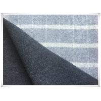 China 80 Wool 20 Nylon Big Tartan Double Faced Wool Coating Fabric , Width 150cm / 59 on sale
