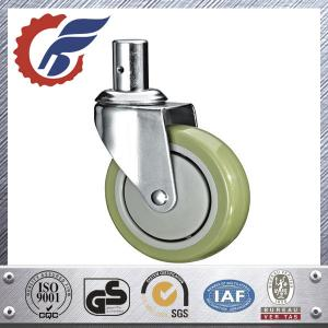 China solid stem swivel caster with PU wheel for home care bed made in china on sale