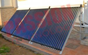 China Aluminum Alloy Heat Pipe Solar Collector For Low Temperature Area 20 Tubes on sale