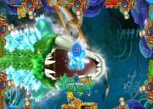 China Video Console Arcade Fish Hunter Game Machine Monster Awaken Fishing Games on sale
