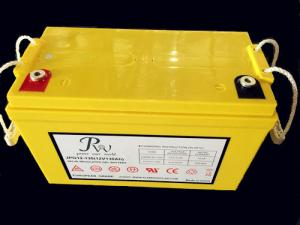 China Deep cycle gel battery 12V100Ah for solar power storage long cycle life yellow series on sale