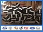 Q345 acero eléctrico galvanizado de acero poste de la inmersión caliente del material los 40FT