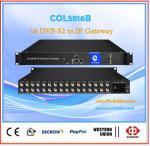 satellite receiver 16dvb-s2 ,2ASI to 512SPTS  ip converter for iptv system COL5816B