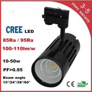 China CREE COB LED Track Light 3 years warranry isolated IC constant driver high PFC CRI lumen on sale