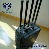 UHF VHF GPS WIFI Cell phone Jammer Portable Bomb Gas Station Oil Depot High power waterproof Blaster Shelter