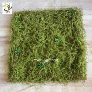 China UVG 30cm micro soft artificial grass mat with nylon moss for beach wedding decor GRS042 on sale