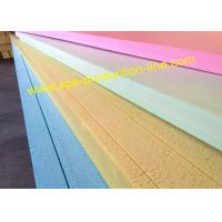 China Yellow / Blue / Green / Pink Styrofoam Insulation Sheets With Waterproof Package on sale
