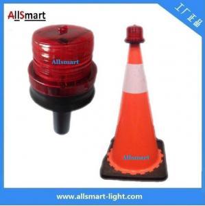 China 4LED Sensor Lighting Road Barricade Light Solar LED Warning Light for Traffic Cone on sale