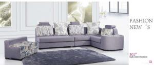 China 2012 New /factory Sell Corner L Shape Sofa-f301 on sale