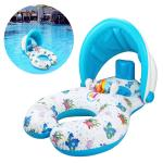 Safety PVC Baby Sitting Float Boat Infants Inflatable Float Boat Sun Canopy 39.3*27.6
