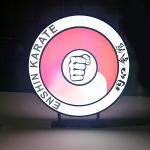 Colorful Round Personalised Light Box Crylic Sheet Covers Easily Changing Screen