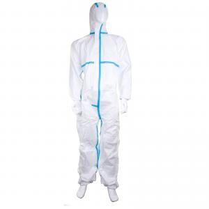 China TYPE 5&6 Protective Microporous Disposable Coverall Suit With Tape on sale