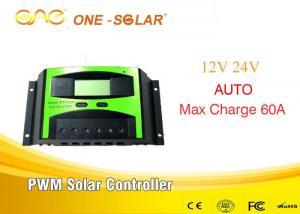 China 12v / 24v 60a Solar Power Controller / Pwm Solar Controller & 24V/48v Solar Charger on sale