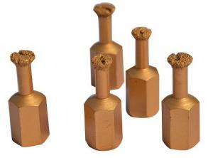 China Vacuum Brazing Diamond Core Drill Set , Non- Core Diamond Drill Bits For Stone on sale
