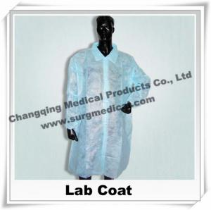 China Medical Scrub Uniforms Non Woven Lab Coat Comfortable Round / V shape Neck , Disposable Surgical Gowns on sale