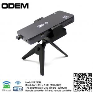 China MP240H hologram projector mini projector mobile phone led Screen portable mini speaker projector supplier