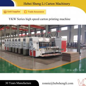 China 4-6 Colors Carton Box Printing Machine , Flexo Corrugated Machine With Big Production on sale