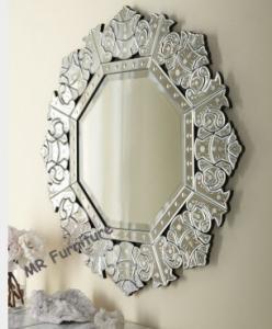 China Decorative Vintage Venetian Mirror, Etching Antique Venetian Glass Mirror on sale