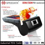 4G Handheld Smart Card Reader , PDA Wireless Rfid Reader in Magnetic MSR Card