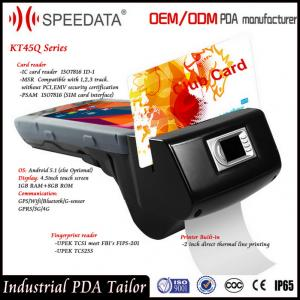 China 4G Handheld Smart Card Reader , PDA Wireless Rfid Reader in Magnetic MSR Card on sale
