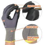 Grey Nylon Light Black Palm Recycled Work Nitrile Gloves