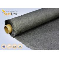 China Stainless Steel Wire Inserted Fiberglass Woven Fabric With Calcium Silicate Coating on sale