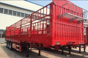 China Lightweight Column Semi Trailer Trucks Deadweight 6 Tons 3 Axle 13 Meters on sale