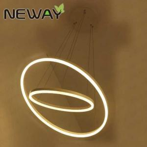 China Droplight Ring Pendant Light Chandelier Light Ceiling Chandelier for Kitchen Luxury Ring Acrylic LED Light Chandelier on sale