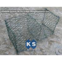 China Hexagonal Mesh PVC Gabions , Welded Coated Galvanized Gabion Baskets on sale