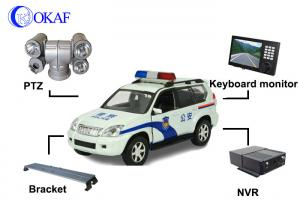 China Police Car Vehicle PTZ Camera , Auto Tracking PTZ Surveillance Camera360° Rotation on sale