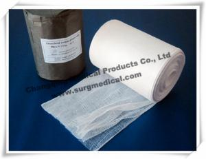 China Rolled Gauze Bandage 4 Ply 100% Cotton Bleached , High Hydrophilic Surgical Medical Gauze on sale