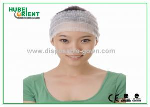 China Comfortable Elastic Female Disposable Headbands White Nonwoven on sale