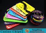 Acrylic Casino Poker Chips With  Mesh Bronzing Silk Screen