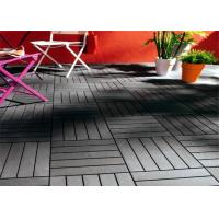 DIY Graden Wood plastic composite Decking Tiles , High Plasticity Outdoor Floor Decking Tiles For Decoration