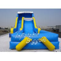 Children Big Pool Inflatable Water Slide Blue With Puncture-Proof PVC CE