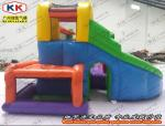 China Nontoxic Inflatable Bouncer , Inflatable Jumping Bed With Slide wholesale