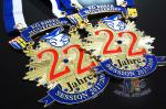 Runing Race Sports Enamel Medals Cut Out Effect Sublimated Ribbon Both Size