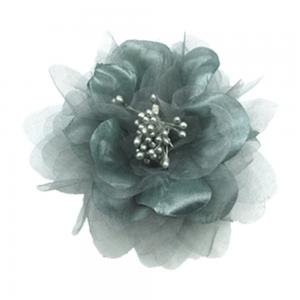 China Luxurious Silver Grey Hair Flowers Decorative Flower For Wedding Dress Ball Gown and For Stage Performance on sale